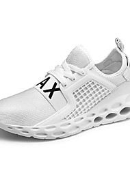 cheap -Women's Athletic Shoes Flat Heel Round Toe Mesh Sporty Running Shoes Spring & Summer Black / White / Red