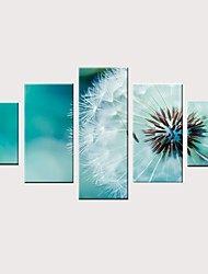 cheap -Print Rolled Canvas Prints Stretched Canvas Prints - Modern Floral / Botanical Vintage Modern Five Panels Art Prints
