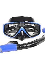 Недорогие -Дайвинг Пакеты - Маска для ныряния шноркель - подводный 180 Градусов Противо-туманное покрытие Дайвинг Водные виды спорта Силикон  Для Взрослые