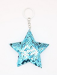 cheap -Keychain Star Simple European Ring Jewelry Fuchsia / Light Blue / Rose Gold For Causal Daily
