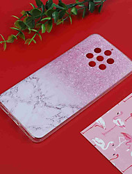 cheap -Case For Nokia Nokia 9 / Nokia 7 Plus / Nokia 6 Translucent / Pattern Back Cover Marble Soft TPU