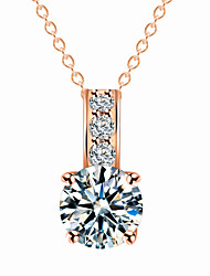 cheap -Women's Charm Necklace Simulated Simple European Fashion Zircon Chrome Gold Silver 38+5 cm Necklace Jewelry 1pc For Wedding Daily Birthday