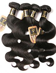 cheap -4 Bundles Hair Weaves Brazilian Hair Body Wave Human Hair Extensions Remy Human Hair 100% Remy Hair Weave Bundles 400 g Natural Color Hair Weaves / Hair Bulk Human Hair Extensions 8-28 inch Natural