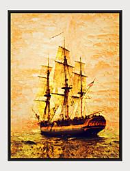 cheap -Framed Art Print Framed Canvas - Abstract Aquatic & Nautical Plastic Illustration Wall Art