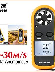 Недорогие -Измерители скорости rz анемометр жк-цифровой датчик скорости ветра датчик портативный 0-30 м / с gm816 анемометр измеритель скорости ветра