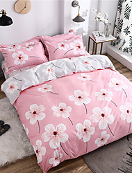 cheap -Duvet Cover Sets Floral Polyster Printed 4 PieceBedding Sets