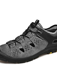cheap -Men's Comfort Shoes Mesh / Cowhide Fall / Spring & Summer Sporty / Casual Sandals Breathable Black / Brown / Gray / Outdoor