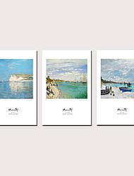abordables -Imprimé Impressions sur toile roulées - Célèbre Paysage Classique Trois Panneaux Art Prints