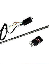 cheap -7 Color 48 LED Waterproof Remote Flash Car Strobe Knight Rider Light Strip Kit +Remote Control