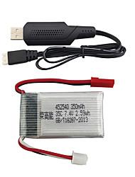 cheap -MJX X401H X402 7.4V 350mAh 1 set Battery
