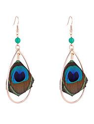 cheap -Women's Drop Earrings Earrings Dangle Earrings Retro Drop Feather Bohemian European Fashion Feather Earrings Jewelry Blue For Party Daily Holiday 1 Pair
