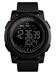 cheap -SKMEI Men's Military Watch Digital Silicone Black / Blue / Green 50 m Military Water Resistant / Waterproof Alarm Digital Outdoor Fashion - Black / White Black / Blue White / Blue One Year Battery
