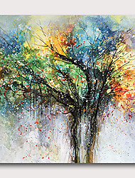 cheap -Hand painted Stretched Oil Painting Canvas Ready To Hang Abstract Style Life Trees