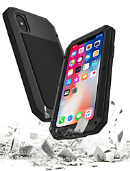 cheap -Case For Apple iPhone XS / iPhone XR / iPhone XS Max Waterproof / Shockproof / Dustproof Full Body Cases Armor Hard Tempered Glass / Metal