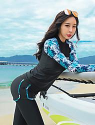 abordables -JIAAO Femme Combinaison Fine Combinaisons Chaud Protection solaire UV Plongée Mosaïque Automne Printemps Eté / Elastique