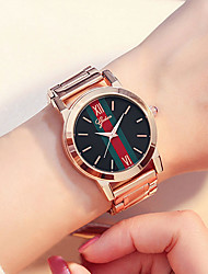 cheap -Women's Quartz Watches Antique Fashion Rose Gold Stainless Steel Chinese Quartz Rose Gold Water Resistant / Waterproof Casual Watch 30 m 1 pc Analog