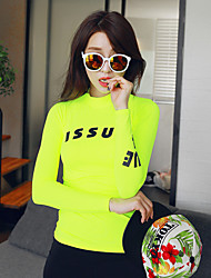 cheap -Women's Rash Guard Dive Skin Suit Diving Suit UV Sun Protection Full Body Swimming Diving Solid Colored Summer / Micro-elastic