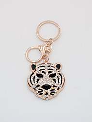 cheap -Keychain Tiger Animals Metallic Boutique Rose Gold Plated Ring Jewelry Rose Gold For Birthday Festival