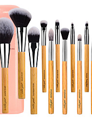 cheap -Professional Makeup Brushes 12pcs Professional Soft Full Coverage Synthetic Artificial Fibre Brush Wooden / Bamboo for Eyeliner Brush Blush Brush Foundation Brush Makeup Brush Lip Brush Eyebrow Brush