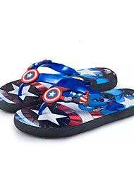 cheap -Boys' Comfort PU Slippers & Flip-Flops Little Kids(4-7ys) / Big Kids(7years +) Black / Red Summer / Color Block / Rubber