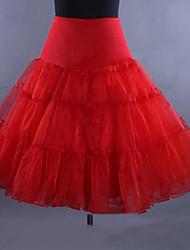 abordables -Danse classique Classic Lolita Années 50 Robe Jupon Crinoline Femme Fille Tulle Costume Noir / Blanche / Rouge Vintage Cosplay Mariage Soirée Princesse