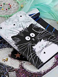 cheap -Case For Amazon Kindle PaperWhite 2(2nd Generation, 2013 Release) / Kindle PaperWhite 3(3th Generation, 2015 Release) / Kindle PaperWhite 4 Wallet / Card Holder / with Stand Full Body Cases Cat Hard