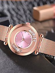cheap -Women's Quartz Watches Casual Fashion Rose Gold Stainless Steel Chinese Quartz Red Blushing Pink Purple Water Resistant / Waterproof New Design Casual Watch 30 m 1 pc Analog