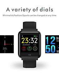 cheap -KUPENG Q-9 Unisex Smart Bracelet Smartwatch Android iOS Bluetooth Smart Sports Waterproof Heart Rate Monitor Blood Pressure Measurement Pedometer Call Reminder Activity Tracker Sleep Tracker