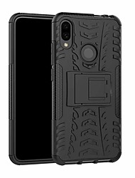 cheap -Case For Xiaomi Xiaomi Redmi Note 7 / Xiaomi Redmi Note 7 Pro Shockproof / with Stand Back Cover Solid Colored Hard Plastic