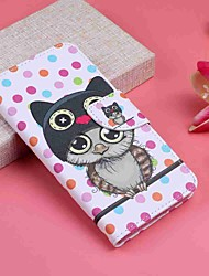 cheap -Case For Motorola MOTO G6 / Moto G6 Plus Wallet / Card Holder / with Stand Full Body Cases Owl Hard PU Leather
