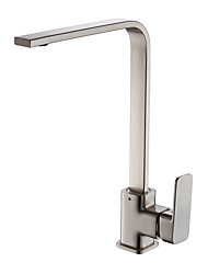 cheap -Kitchen faucet - Single Handle One Hole Nickel Brushed / Electroplated Standard Spout Vessel / Brass