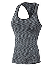 cheap -Women's Racerback Yoga Top Stripes Fitness Gym Workout Top Sleeveless Activewear Breathable Quick Dry Sweat-wicking Stretchy