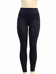 cheap -Women's High Rise Yoga Pants Fashion Mesh Running Tights Activewear Butt Lift Micro-elastic Slim