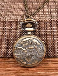 cheap -Men's Pocket Watch Quartz Vintage Style Bronze Casual Watch Large Dial Analog Vintage Fashion - Bronze