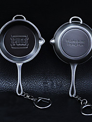 cheap -PUBG Level 3 Pan Keychain Charm Creative / Cool Metal Universal
