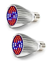 cheap -Grow Light LED Plant Growing Light Full Spectrum Growing Light Fixture 85-265V 30W 800-1200 lm 40 LED Beads White Red Blue For Greenhouse Hydroponic
