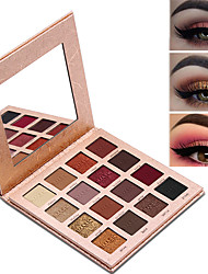 cheap -16 Colors Eyeshadow Eyeshadow Palette Matte Shimmer Eye EyeShadow Matte Shimmer Formaldehyde Free Paraben Free Glitter Shine smoky Youth Natural Breathability Safety Daily Makeup Party Makeup Fairy