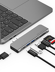 cheap -LENTION High Speed with Card Reader(s) Support Power Delivery Function Support Thunderbolt 3 CB-TP-CS64THCR USB 3.0 USB C to HDMI 2.0 Thunderbolt USB 3.0 USB 3.0 USB C SD Card TF Card USB Hub 9 Ports