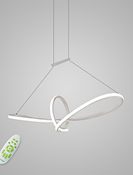 cheap -Pendant Light Ambient Light Painted Finishes Metal Matte, Bulb Included, Adjustable 110-120V / 220-240V Warm White / Cold White / Dimmable With Remote Control LED Light Source Included
