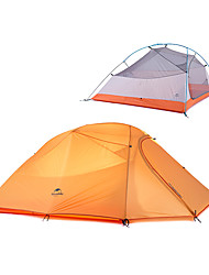 cheap -Naturehike 3 person Family Tent Outdoor Windproof Rain Waterproof Double Layered Poled Camping Tent 2000-3000 mm for Camping / Hiking / Caving Traveling Polyster 215+85*180*110 cm