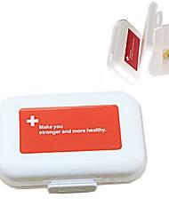 cheap -Mini Vitamin Holder Portable Weekly Pill Cases Medicine Tablet Storage Container Case Medicine Drug Box Pills Organizer