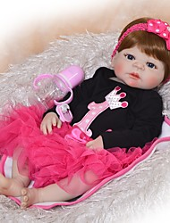 cheap -FeelWind 22 inch Reborn Doll Baby Boy Baby Girl Reborn Baby Doll Kids / Teen Adorable Lovely Full Body Silicone with Clothes and Accessories for Girls' Birthday and Festival Gifts