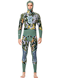 cheap -Women's Full Wetsuit 3mm SCR Neoprene Diving Suit Quick Dry High Elasticity Long Sleeve Back Zip 2-Piece Patchwork Autumn / Fall Spring Summer / Stretchy