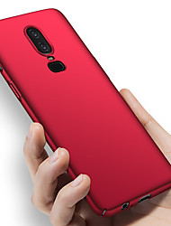 cheap -Case For OnePlus OnePlus 6 / One Plus 6T / One Plus 5 Shockproof / Ultra-thin / Frosted Full Body Cases Solid Colored Hard PC