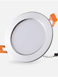 cheap -1pc 3 W 300 lm 6 LED Beads Easy Install Recessed LED Downlights Warm White Cold White 85-265 V Commercial Home / Office Bedroom / RoHS / CE Certified