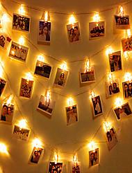 Недорогие -3M Гирлянды 20 светодиоды Тёплый белый / RGB / Белый Творчество / Для вечеринок / Декоративная Аккумуляторы 1 комплект