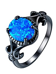 cheap -Women's Ring AAA Cubic Zirconia 1pc Blue Alloy Gift Daily Jewelry