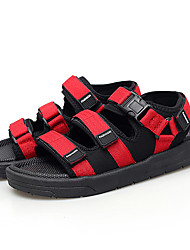 cheap -Men's Comfort Shoes Mesh Summer Casual Sandals Wear Proof Black / Black and White / Black / Red
