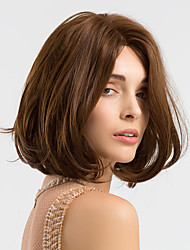 cheap -Synthetic Wig Natural Wave Bob Wig Medium Length Brown Synthetic Hair 14 inch Women's Synthetic Comfortable African American Wig Brown / Doll Wig / For Black Women