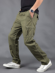 cheap -Men's Hiking Pants Hiking Cargo Pants Winter Outdoor Breathable Anti-tear Durable Wear Resistance Pants / Trousers Bottoms Camping / Hiking Hunting Fishing Black Dark Grey Cream S M L XL XXL